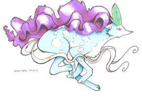 Pokemon Suicune by PinkMelodii