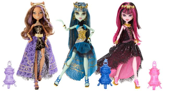 monster high 13 wishes party line dolls assorsment by no1mhfan
