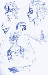 Feather boi doodles by risky