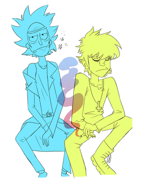 Rick and Murdy by ScribbleCate