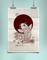 The koi carp Poster Mock-Up by EugeneStanciu