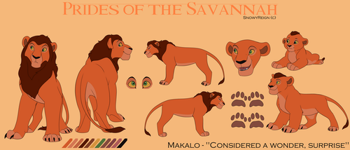[Lion OC] Makalo's Concept Art 1.0 by SnowyReign