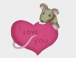 Love You Rat by eugeal