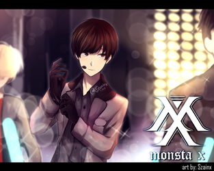 Hyungwon from MONSTA X by Szainx