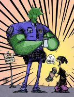 Savage Dragon by Skottie Young color by chaz 1-29- by ChazWest