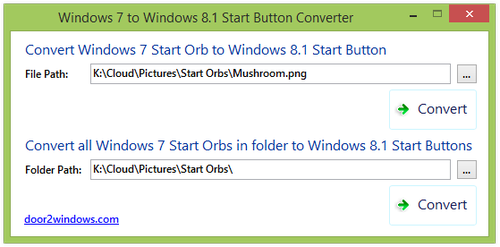 Windows 7 To Windows 8.1 Start Button Converter by Kishan-Bagaria