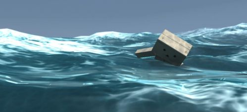 Danbo stuck in the sea by goutham9986