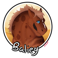 [CP] Baliey: Headshot for WhimsicalCrystal by WoollyWolfie