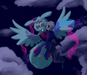 :commission: Dancing through the night by Sofua