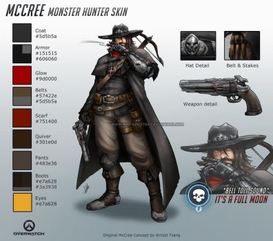 Overwatch - Monster Hunter McCree - Skin Concept by Red-Sinistra