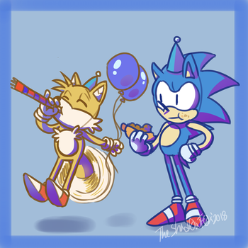 .::Sonic's 27 Birthday::. by TheShad0wF0x