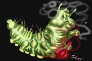 Stoned Caterpillar by pickledshoe