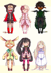 [ADOPTABLES] Ball-Jointed Dolls [SET PRICE - OPEN] by Rinn-y