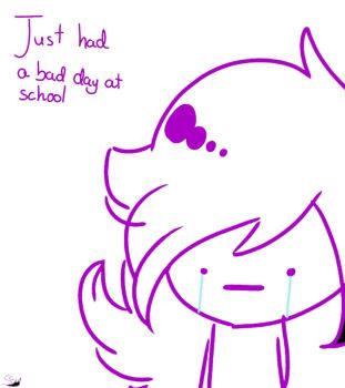 Just had a bad day at school. by supersailorwind