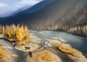 Collab: The River's shallows by lightningspam