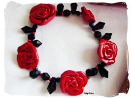 Valentines Rose Bracelet by Cateaclysmic