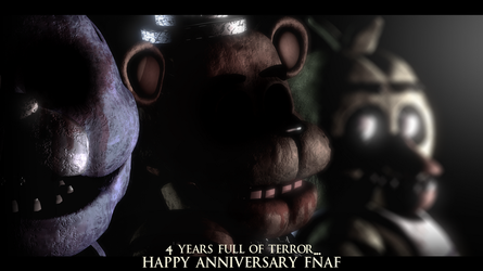 Happy 4th Anniversary FNaF - Blender by ChuizaProductions