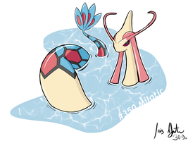 Milotic territory right ahead by LuisMGalindo