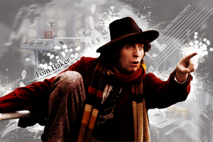 Fourth Doctor Tom Baker by Vanessa28