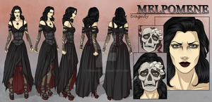 Melpomene - Character Reference Sheet by TeraSArt