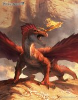 Red Dragon by ameeeeba