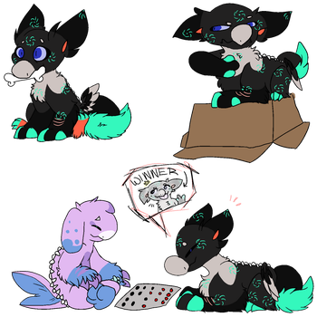 Pralle is a dog confirmed by MidnightFlurries03