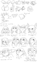 Iterative Drawing Dump 3 and 4 by Daaberlicious