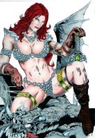 Red Sonja - Color Pencils 2015 by B-Richards