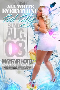 all white pool party by haiti100