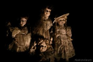 Haunted Dolls by stargirlphotography