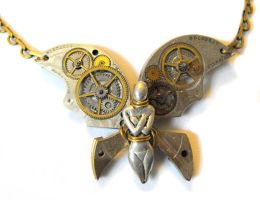 Steampunk Faery Necklace by JLHilton