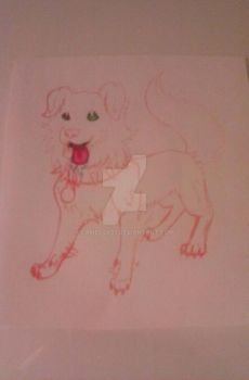 (unfinished) pinky-pink serena-dog by Cameo0801