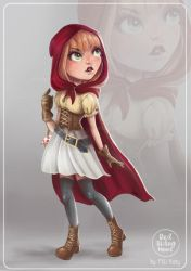 RED RIDING HOOD - CHARACTER DESIGN by HisakiChan