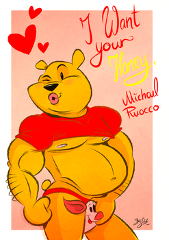 Winnie Poo Valentines Card by Themrock