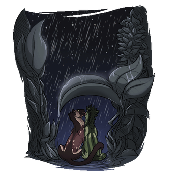 Comfort in the storm by Blinkeraser