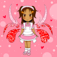 Chibi Angel of Cruxis: Me! by Miss-Gravillian1992