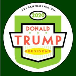 Trump 2020 button by Conservatoons