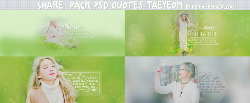 (STOP Share) pack quotes #2 Kim Taeyeon [MV I] by KeroLee2k