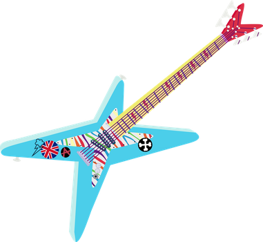 Rainbow Dash Guitar by BlueThunder66