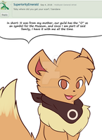 Toby: From my mother. by Xael-The-Artist