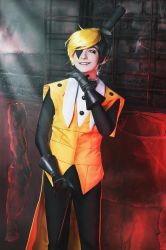 Gravity falls - Bill Cipher cosplay - 1 by Dokura-chan
