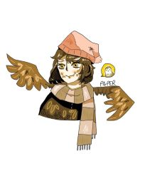 Owl girl by P4PERP1ECE