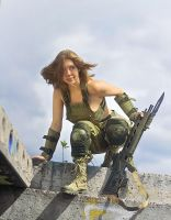 Polina with rifle by ohlopkov