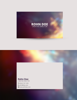 Professional Business Card Template (Free) by UJz