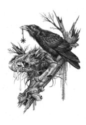 Wolf Skull and Ravens. by urielstempest