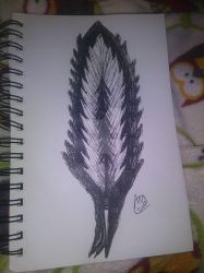 tree in a feather by RoseBlackHeart