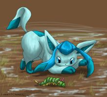 Colouring - Glaceon by Endivinity