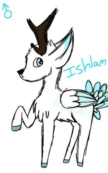 Ishlam The Winter Buck (Adopted) by Happylittleweirdos
