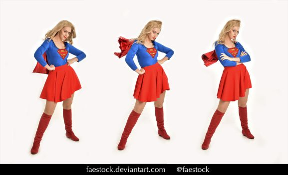 Supergirl  - Stock model reference pack 29 by faestock