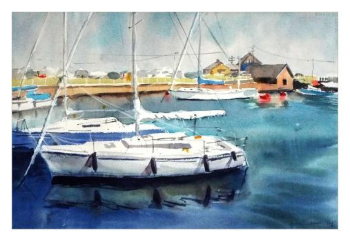 Courtown One Boat by katekos-art